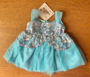 Build-A-Bear Turquoise and Silver Dress **NEW WITH TAG**