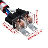 Car 12V H4 2 Lamp Headlight Bulb Wire Wiring Harness Ceramic Relay Socket Plug