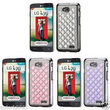 LG Optimus L70 Exceed 2 VS450PP MS323 Realm LS620 3D Diamante Case Back Cover