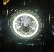 """7"""" LED Daymaker Headlights With DRL Halo Ring For Harley Davidson Motorcycles"""