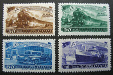 Russia 1948 #1261-1264 MH OG Russian Five Year Plan Transportation Set $230.00!!