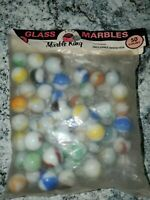 Marble King 50 count Bag, American Made Glass Marbles, Includes Shooters