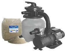 Sandfilteranlage MLS 6500 V mit Vorfilter und 25 kg Quarzsand Poolfilter Filter