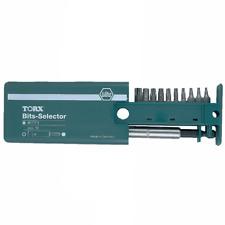 "Wiha 79247 Security Torx Bit Selector Set w/ Magnetic 1/4"" Bit Holder, 10 pieces"