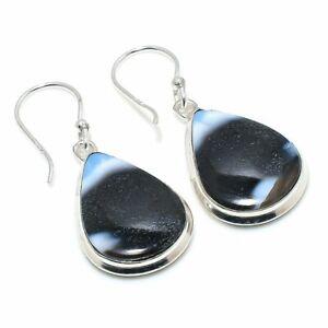 "Owhyee Opal Gemstone Handmade 925 Sterling Silver Jewelry Earring 1.65 "" Y875"