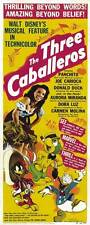 THE THREE CABALLEROS Movie POSTER 14x36 Insert Aurora Miranda Carmen Molina Dora