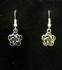 Earrings Pretty Flower Silver Hippie Bohemian Ethnic Boho Bohemian A1002