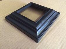 Pvc Vinyl 3 x 3 Post Base - Deck , Railing , Column Trim Ring- Black