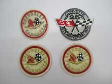 Lot 4 Vtg 1970s Chevrolet Chevy Corvette Logo Sew On Patches 25th Anniversary