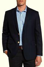 Vineyard Vines Mens 2 Gold Button Front Navy Blue Wool Blazer US 38r