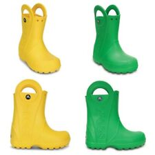 Crocs Handle It Kids Rain Wellies Boot Summer Wellington Boys Shoes