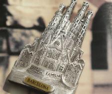 Sagrada Familia Barcelona Spain Souvenir 3D Resin Fridge Magnet Craft SILVER