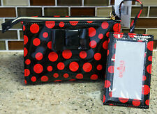 Nwt Disney Parks Beautifully Disney Pop of Minnie Cosmetic Bag Case & Mirror