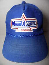 Vintage 1980s WOODWORKER PYRAMID Wood Worker Advertising Patch SNAPBACK HAT CAP