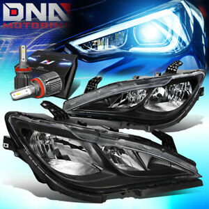 FOR 2017-2020 CHRYSLER PACIFICA OE STYLE HEADLIGHTS W/LED KIT+COOL FAN BLACK