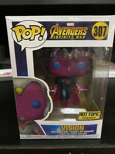 Funko Pop! #307 Marvel Avengers Infinity War Vision Hot Topic Exclusive