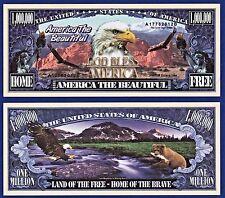 1- America the Beautiful Million Dollar Bill  Eagle  Liberty  Novelty Money A 2