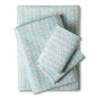 Easy Care Sheet Set Turquoise Chevron (Full Size) - Easy Care - Room Essentials