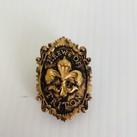 Mardi Gras Lapel Pin Brooch Krewe Of Triton Ball Lafayette La Bronze Colored