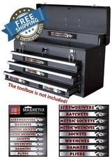 16 Pc Set Magnetic Tool Box Chest Labels Garage Mechanic Tools Storage Organizer