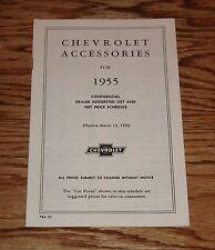 1955 Chevrolet Passenger Car & Truck Accessories Price List Brochure 55 Chevy