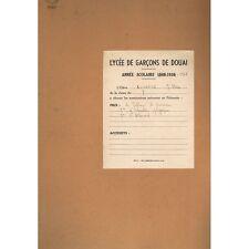 CAHIER LYCÉE de DOUAI de Jean-Marie COURTIN illustré Cartes et Dessins vers 1950