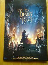 DISNEY BEAUTY AND THE BEAST-NEW 2017 IMAX 13x19 PROMO MOVIE POSTER - Emma Watson