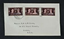 KGVI, 1937, TANGIER, FRENCH + SPANISH CURRENCY Coronation stamps on cover.
