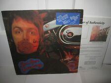 PAUL MCCARTNEY SIGNED ALBUM WINGS RED ROSE SPEEDWAY THE BEATLES JSA LETTER
