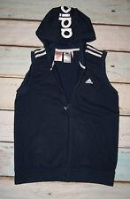 Adidas Boys Hooded Tank Top Sleeveless Hoodie Cardigan Age 12-13 Years