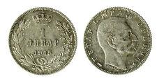 pcc1840_98) YUGOSLAVIA - SERBIA - PETER I° - 1 DINARA SILVER 1915