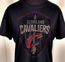 Women's Cleveland Cavaliers  Rhinestone Basketball  T Shirt Tee Cavs Ladies
