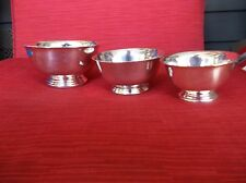 Gorham & Reed & Barton 3 Silver Bowl Set YC108, 101 and Paul Revere Design NICE!