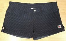 "ladies womens striped navy shorts Hot Pants Size XXL 35"" Waist"