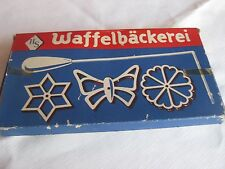 Germany, Waffelbäkerei forms, (Rosettes), 3 Shapes, with Receipes, In Box