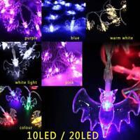 10/20LED Halloween Bats String Lamp Fairy Light Party Garden Decor Halloween