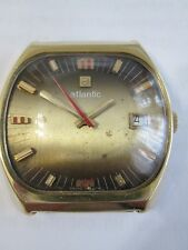 VERY RARE VINTAGE ATLANTIC TROUBADOUR 17 jewels SWISS MADE watch, FHF cal.96-4