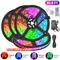 65.6FT 20M Flexible 5050 RGB LED SMD Strip Light Fairy Lights Rooms TV Party Bar