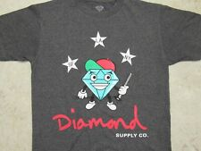 DIAMOND Mascot Holding Baton T-SHIRT Mens SMALL SF LA NY Supply Co Grey S Bat