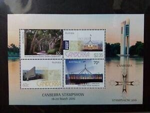 2016 Canberra stamp show minisheet