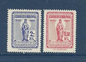 BOLIVIA - 371-372;376-377 - MNH - 1952-1953 ISSUES