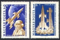 Hungary 1961 MNH 2v, Space Flight, Yuri Gagarin, 1st Man in Space (D99)