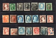 High Value Large Lot of used 19th Century U.S. Stamps CV $8950.00