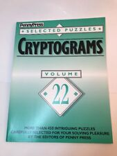 RARE Cryptograms Volume 22 Penny Press Selected Puzzle HTF 1993