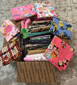 """NEW 100% Cotton/Flannel Fabric Lot 5 Pounds Disney,Mickey,Minion """"CLEARANCE"""" # 3"""