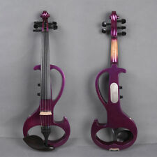 5 string 4/4 Electric violin Powerful Sound big jack Purple Solid wood Free part