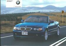 BMW 3er Cabrio Betriebsanleitung 2005 E 46 Bedienungsanleitung Handbuch  BA