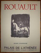 Rouault George affiche lithographie 1972 Musée de l'Athenée Genève cirque