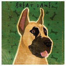 NEW Great Dane Dog Large Breed Gentle Giant Thirstystone Stoneware Coasters Set
