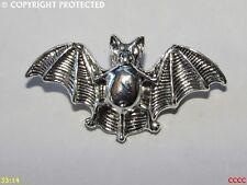 steampunk brooch badge pin silver bat gothic Dracula vampire